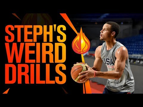 WEIRD Steph Curry Shooting Drills with Coach Damin