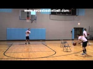 """Chair Drills """"2 Chair Drive to Basket Right"""" for Youth Basketball"""