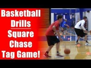 Basketball Drills: Square Chase Tag Game – Ball Handling Skills & Footwork