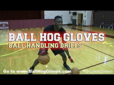 Ball Handling Drills with Ball Hog Gloves: Coach Godwin Ep: 147