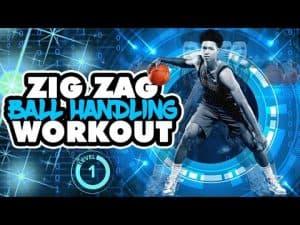 4 MINUTE BALL HANDLING WORKOUT! Zig Zag Lvl 1