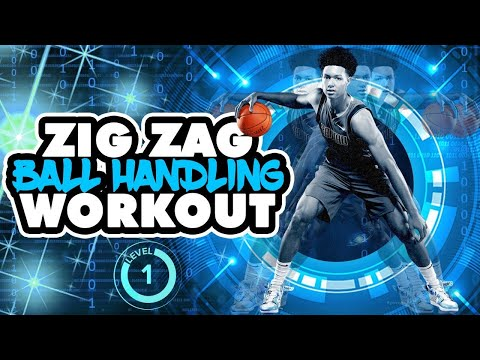 4 MINUTE BALL HANDLING WORKOUT! Zig Zag Lvl 1