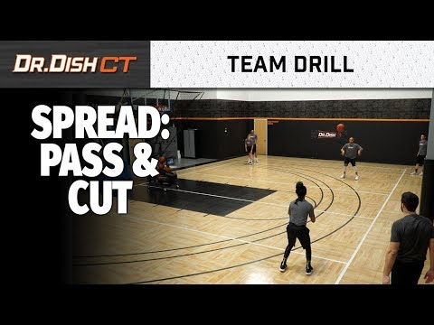 Team Basketball Shooting Drills: Spread Pass and Cut