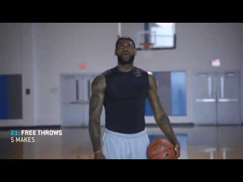 October 13, 2013 – PowerAde – LeBron James 60-minute Basketball Practice Drills (1of3)