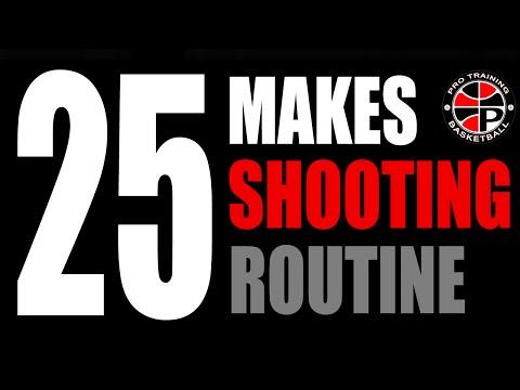 Daily Shooting Routine   25 Make Scoring Challenge   Pro Training Basketball