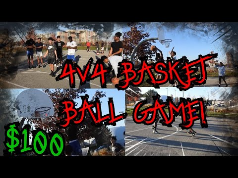Winner get's $100! Extreme 4v4 Basketball Game!