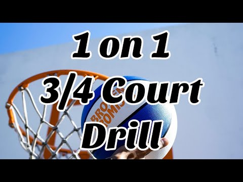 1 on 1 3/4 Court Basketball Drill