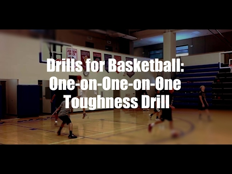 Drills for Basketball: One-on-One-on-One Toughness Drill