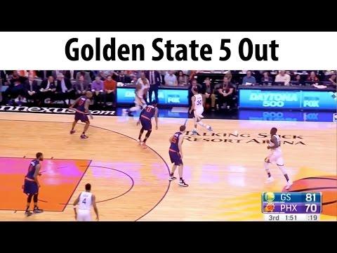 Golden State 5 Out Screen Away Basketball Offense